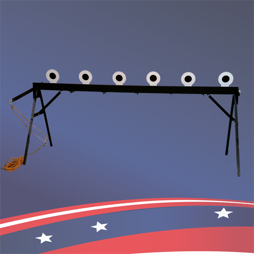 X-Ring Plate Rack Bianchi Center Fire Manual Reset & Plate Rack Target | Targets for Shooting | Custom Metal Products
